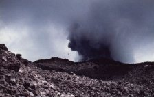 Arenal Mountain Erupting
